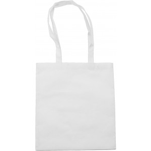 Nonwoven carrying/shopping bag, white (6227-02CD)