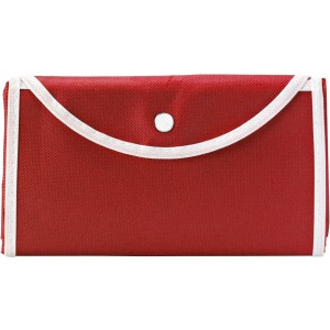 Nonwoven foldable carrying/shopping bag, Red (5619-08)
