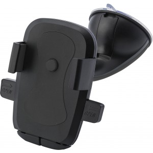 Plastic adjustable mobile phone holder for in a car, black (0969-01CD)