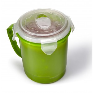 Plastic microwave cup (720ml), light green (Plastic kitchen equipments)