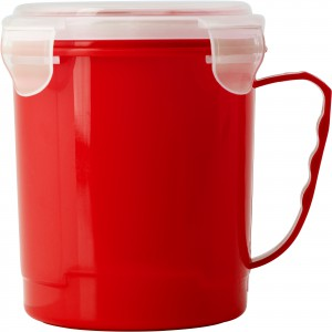 Plastic microwave cup (720ml), red (Plastic kitchen equipments)