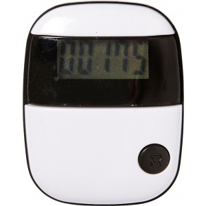 Plastic pedometer with a step counter., Black/white (4453-40)