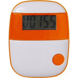 Plastic pedometer with a step counter., Orange (4453-07)