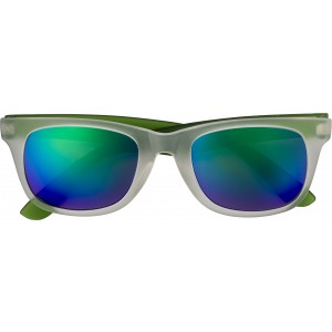 Plastic sunglasses with UV400 protection, green (7826-04)