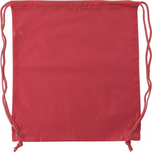 Polyester (190T) drawstring backpack, Red (6242-08)
