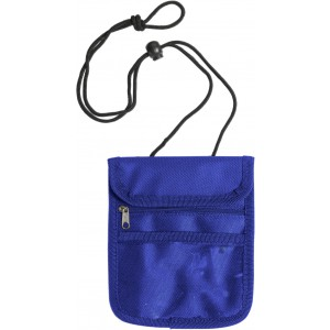 Polyester (600D) tavel wallet, Blue (5607-05)