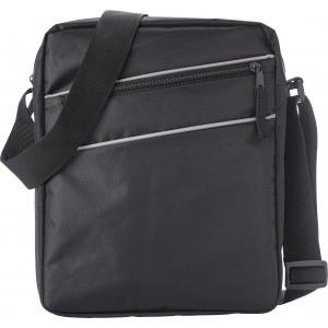 Polyester (600D/twill) shoulder bag, Black (7675-01)