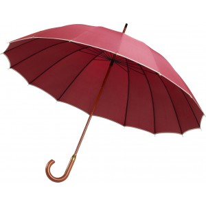 Pongee (190T) manual umbrella, Red (4118-08)