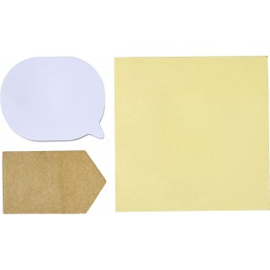 Pouch with 3 types of sticky notes, white (7805-02)