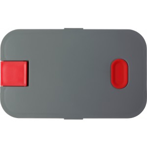PP and silicone lunchbox, red (8520-08)