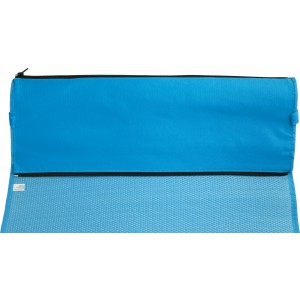PP with nonwoven foldable beach mat, Pale blue (7247-18)