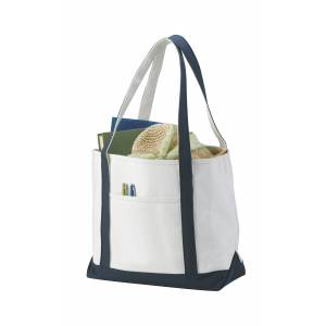 Premium Heavy Weight Cotton Boat Tote, white, 33 x 18 x 50 c (12011201)