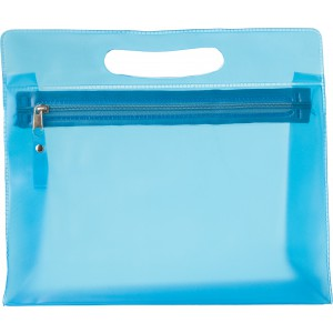 PVC Frosted toilet bag, light blue (6447-18)