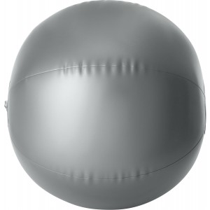 PVC inflatable beach ball, silver (Inflatable beach equipment)