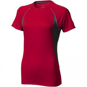 Quebec short sleeve women's cool fit t-shirt, Red,Anthracite (3901625)