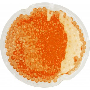 Round plastic hot/cold pack, Orange (7415-07)