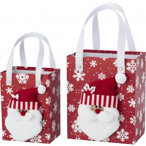 Set of Christmas decoration boxes, Red/white (5222-48-284)
