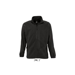 Sols North Fleece Jacket, Black, 2XL (SO55000BL)