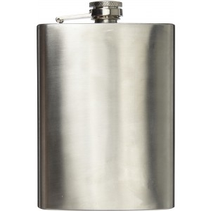 Stainless steel hip flask (240ml), Silver (7679-32)