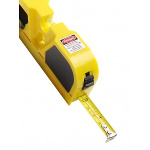 Tape measure and laser, 2m, Yellow (7166-06)