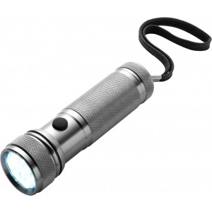 Torch with 12 LED lights, Silver (4833-32)