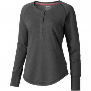 Touch long sleeve ladies shirt, Heather Charcoal (3324398)