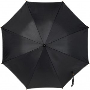 Umbrella with reflective border, Black (4068-01CD)