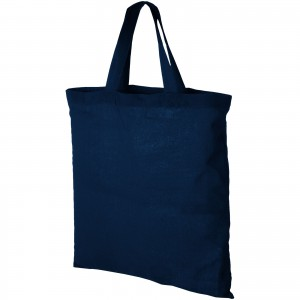 Virginia 100 g/m2 cotton tote bag, navy (12011006)