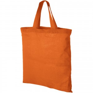 Virginia 100 g/m2 cotton tote bag, orange (12011008)