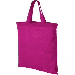 Virginia 100 g/m2 cotton tote bag, pink (12011007)