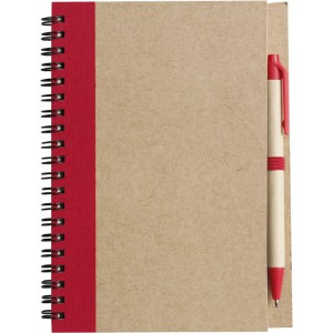 Wire bound notebook with ballpen., red (2715-08CD)